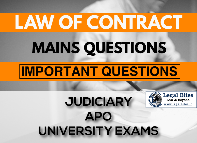 Law of Contract Mains Questions Series