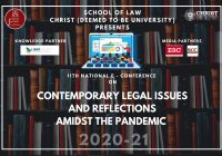 11th National E-Conference on Contemporary Legal Issues and Reflections amidst the Pandemic Christ University Bangalore