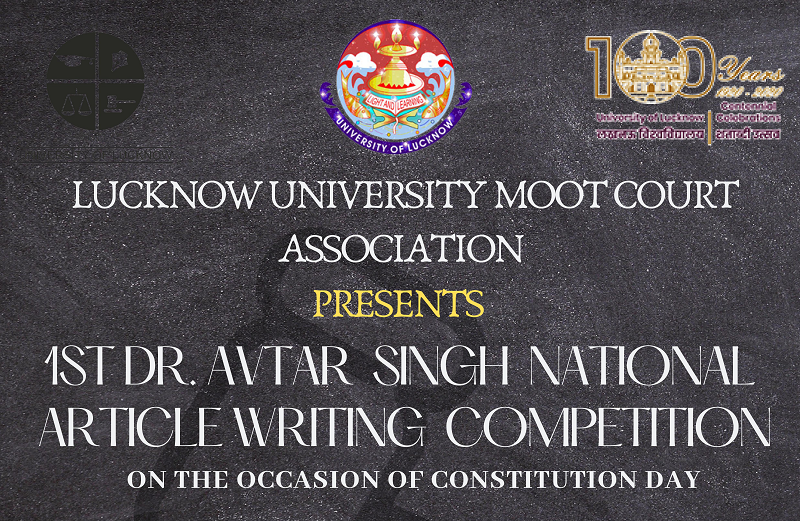 1st Dr. Avtar Singh National Article Writing Competition | Lucknow University