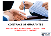 Contract Of Guarantee under Indian Law