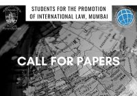 Call for Papers: SPIL International Law Journal Volume 1 (Revival Edition)