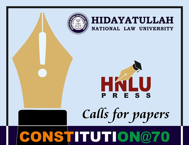 Call for papers on Constitution @ 70 | HNLU Raipur