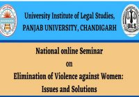 National Online Seminar On Elimination of Violence Against Women: Issues and Solutions