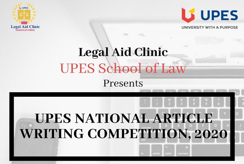 National Article Writing Competition 2020 on Free Legal Services | UPES