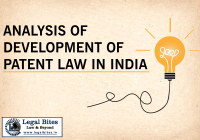 An Analysis of the Development of Patent Law in India