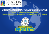 Call for Papers: Sharda University Virtual International Conference on Green Intellectual Property and Climate Change Mitigation Technologies: Way Ahead