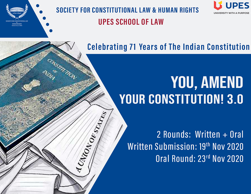 You, Amend Your Constitution 3.0 School of Law, UPES