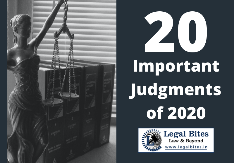 20 Important Judgments of 2020