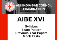 AIBE XVI 2021 - All India Bar Examination: Notification, Syllabus, Pattern