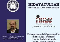 HNLU Alma Matters Webinar Series: Entrepreneurial Opportunities in the legal domain: How to build and scale your legal startup?