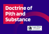 Doctrine of Pith and Substance