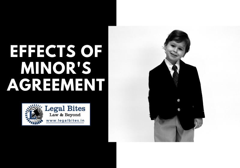Effects of Minor's Agreement