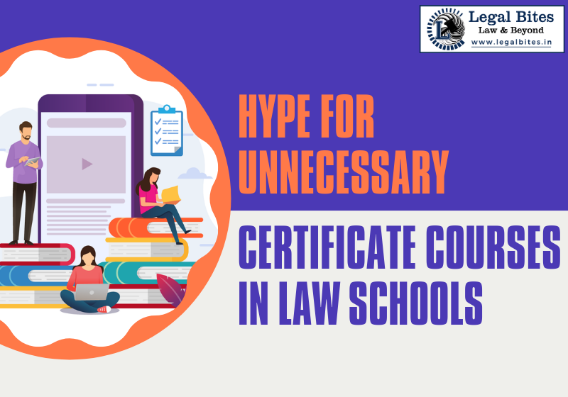 Unnecessary Certificate Courses in Law Schools
