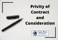 Privity of Contract and Consideration