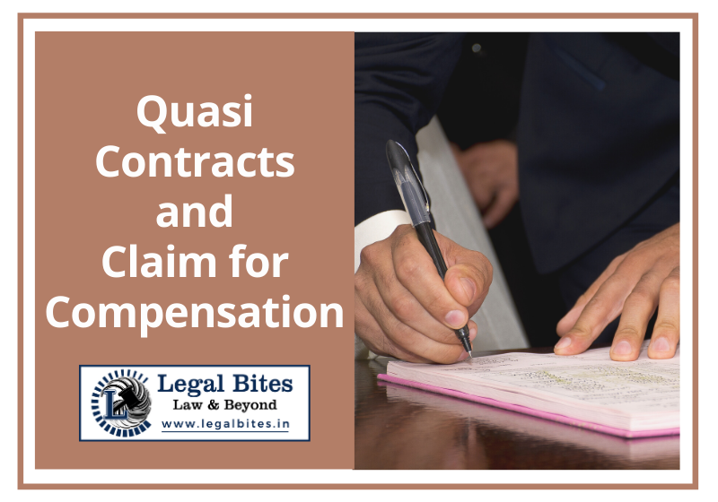 Quasi Contracts and Claim for Compensation