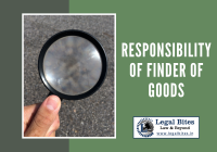 Responsibility of the Finder of Goods