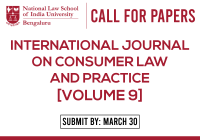 Call for Papers NLSIU International Journal on Consumer Law and Practice Volume 9