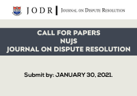 Call for Papers: NUJS Journal on Dispute Resolution