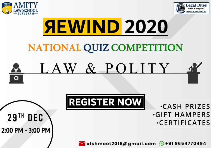 Rewind 2020: National Quiz Competition on Law & Polity