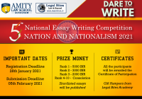 5th National Essay Writing Competition on Nation and Nationalism 2021