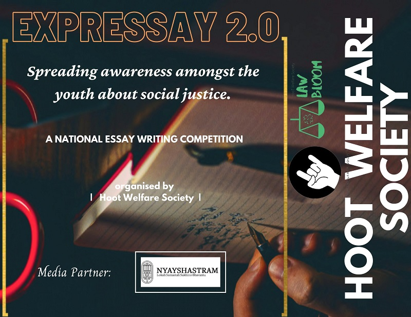 EXPRESSAY 2.0: National Essay Writing Competition | Law Bloom, Hoot Welfare Society