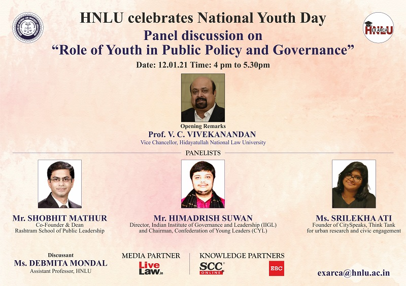 HNLU Press Panel Discussion Role of Youth in Public Policy and Governance