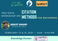 Two Days Workshop on Citation Methods