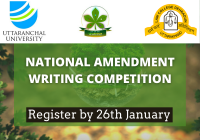 National Amendment Writing Competition | Law College Dehradun [Register by Jan 26]