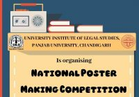 National Poster Making Competition | UILS, Panjab University, Chandigarh