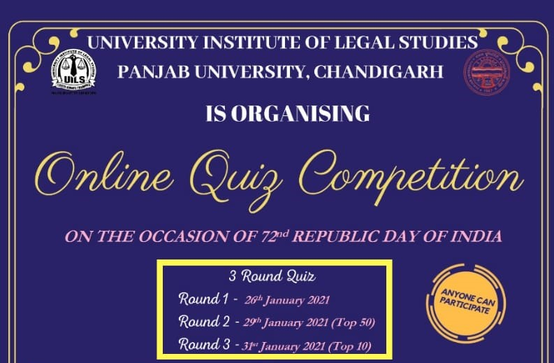 National Online Quiz Competition - Republic Day | UILS, Panjab University