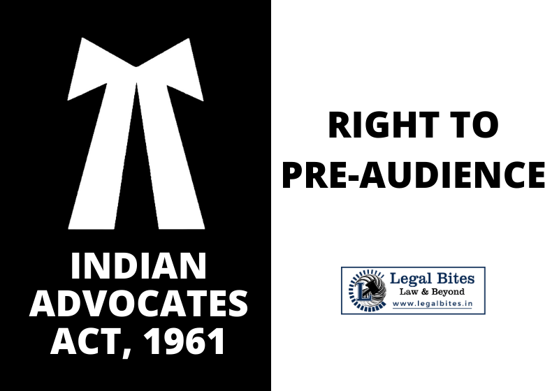 Right to Pre-audience