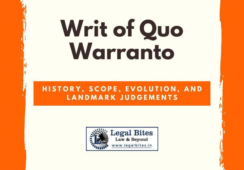 Writ of Quo Warranto