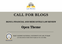 Call for Blogs: RGNUL Financial and Mercantile Law Review | Open Theme