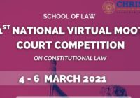 1st Virtual National Moot Court Competition 2021 | School of Law, CHRIST Delhi NCR