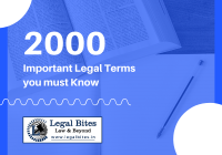 2000 Important Legal Terms you must Know