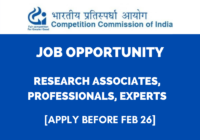 JOB: Research Associates/Professionals/Experts | Competition Commission of India