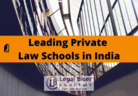 Leading Private Law Schools in India