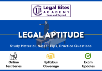 Legal Aptitude for CLAT Notes, Tips, Test Series