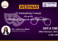 Webinar: Criminalising Comedy vis-a-vis Freedom of Speech and Expression | Iuris Jura