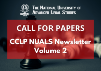 Call for Papers: CCLP NUALS Newsletter Volume 2 | NUALS Kochi