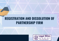 Registration and Dissolution of Partnership Firm
