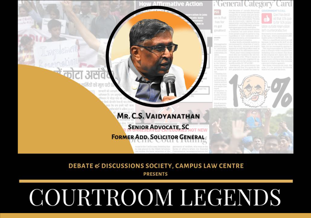COURTROOM LEGENDS Episode 2: Equal Opportunity and Meritocracy | Campus Law Centre, University of Delhi