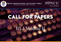 Call for Papers: HLJ Volume II   HPNLU Law Journal