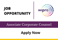 JOB: Associate Corporate Counsel | WIPRO Bengaluru