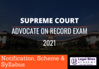 Supreme Court Advocate on Record: AOR Examination - Notification, Eligibility and Exam Pattern