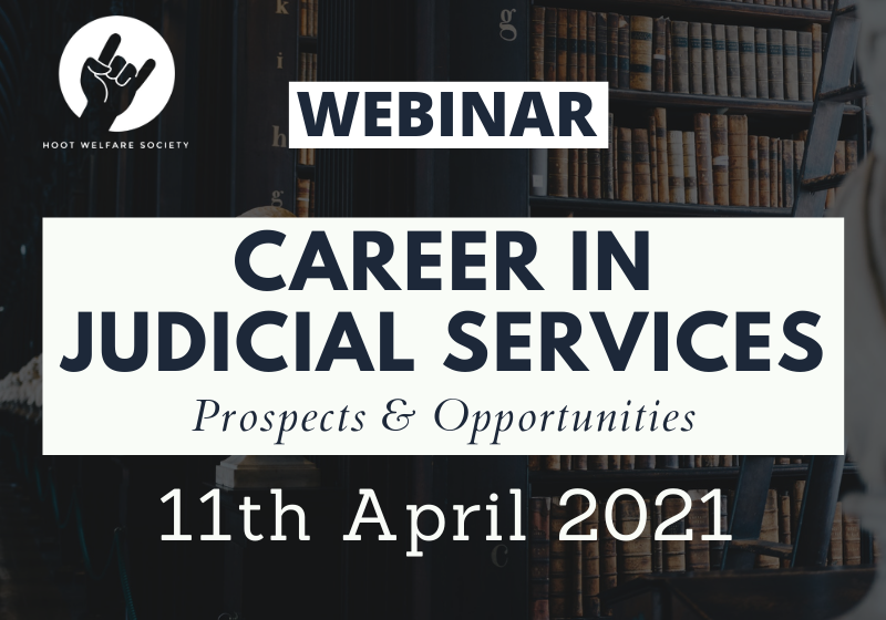 Webinar: Career in Judicial Services - Prospects & Opportunities | Hoot Welfare Society