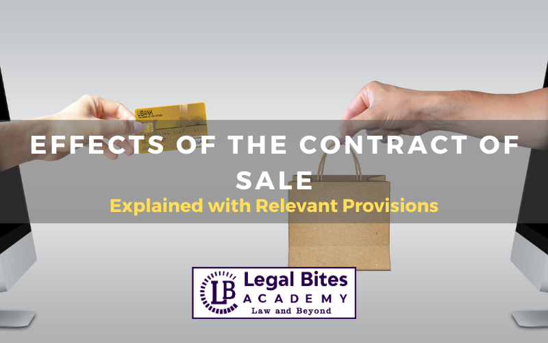 Effects of the Contract of Sale