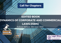 Edited Book: Dynamics of Corporate and Commercial Laws (ISBN