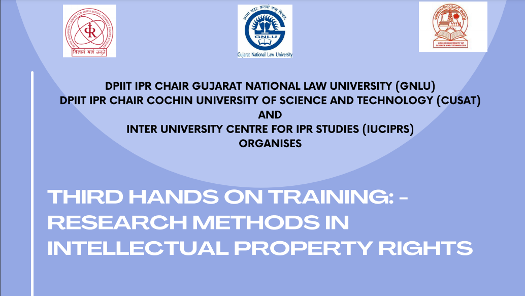 Research Methods in Intellectual Property Rights