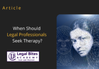 Legal Professionals Seek Therapy